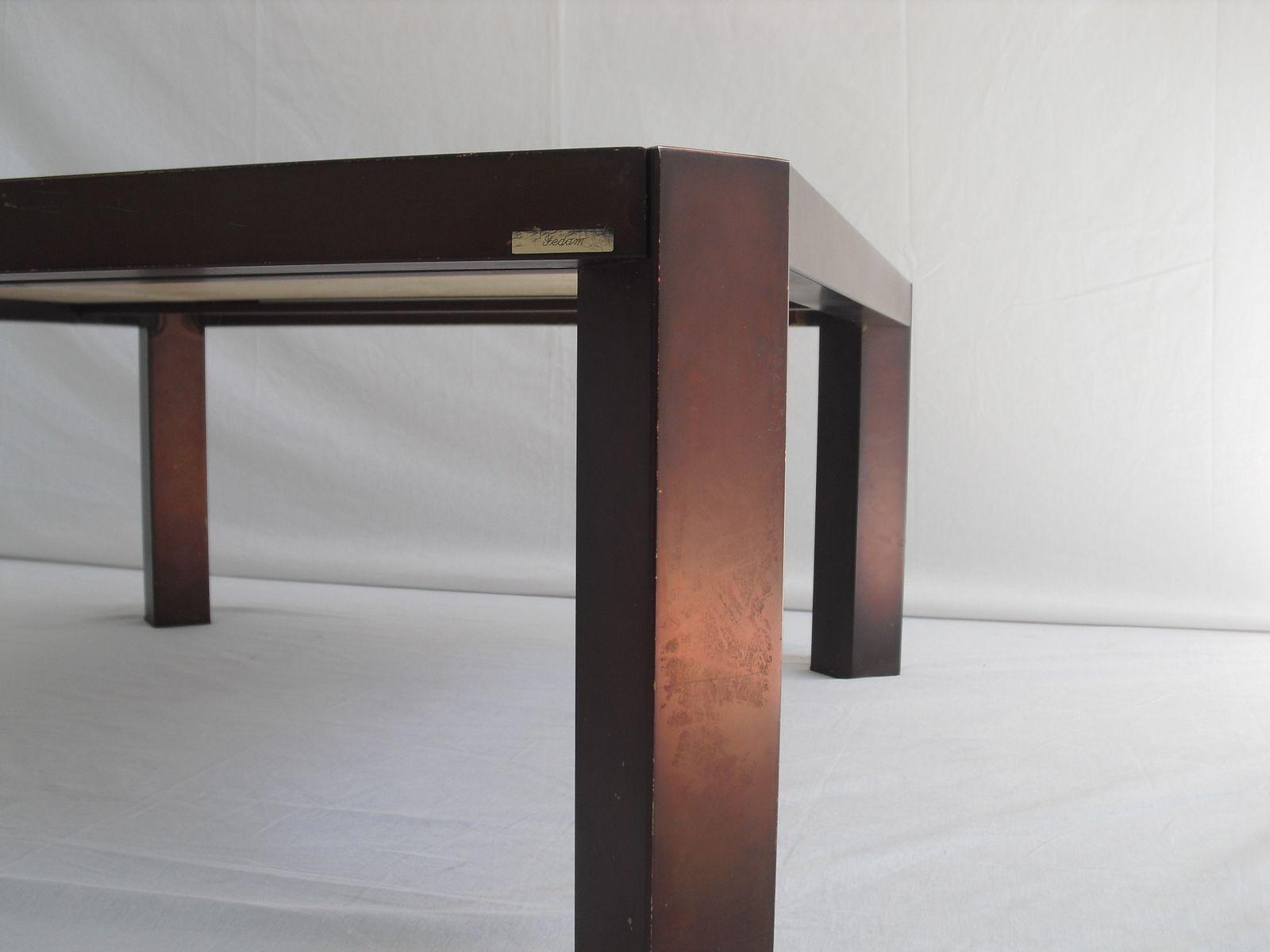table basse mid century en travertin par fedam belgium 1970s en vente sur pamono. Black Bedroom Furniture Sets. Home Design Ideas