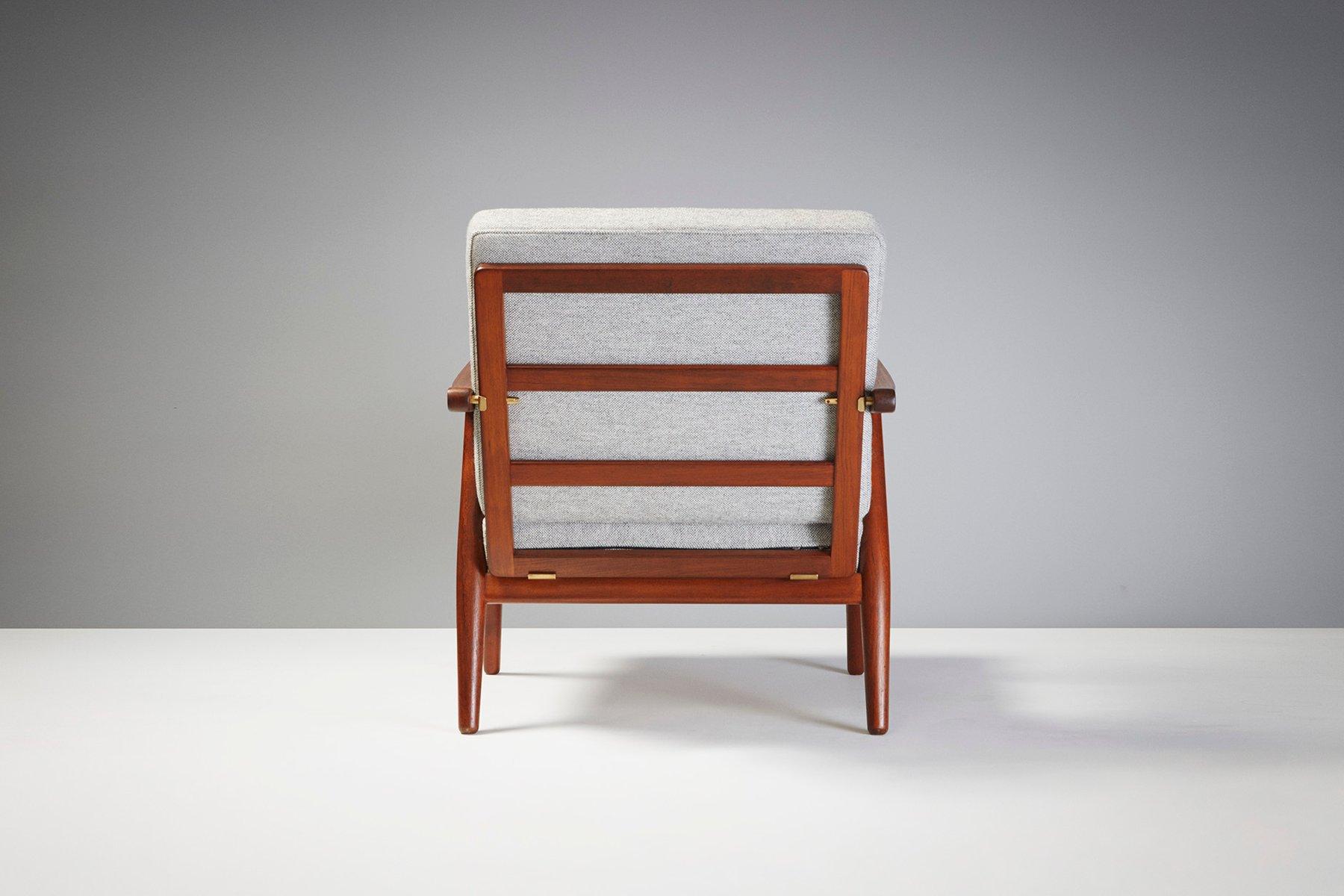 Wegner Sessel ge-270 teak sessel von hans j. wegner, 1956 bei pamono kaufen