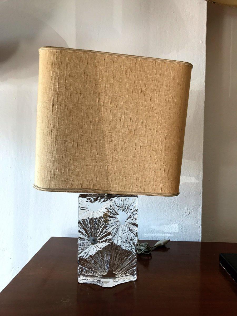 Tischlampe aus Kristallglas von Daum France, 1960er