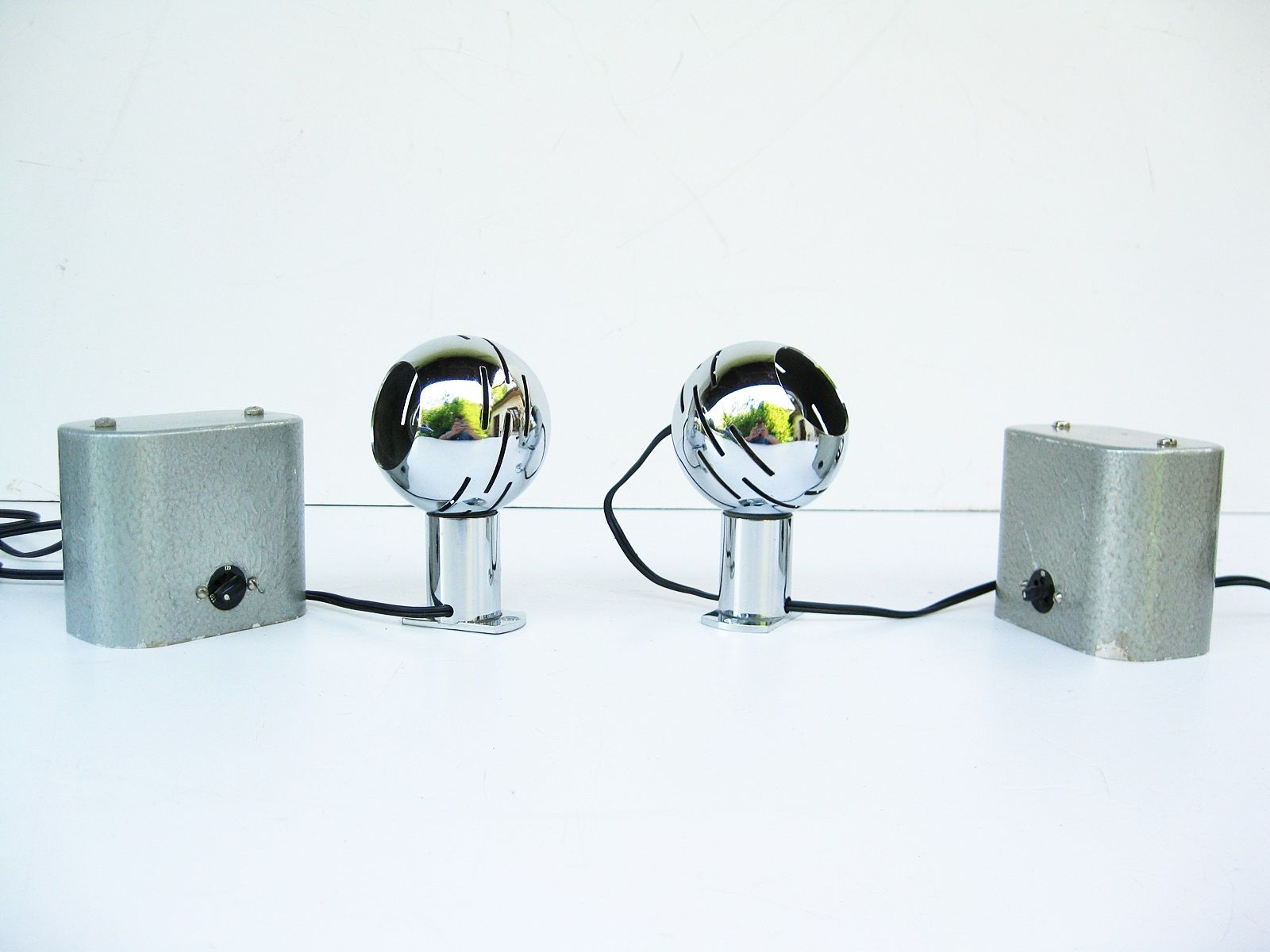 Lexico Wandlampen von Angelo Lelii für Arredoluce, 1960er, 2er Set