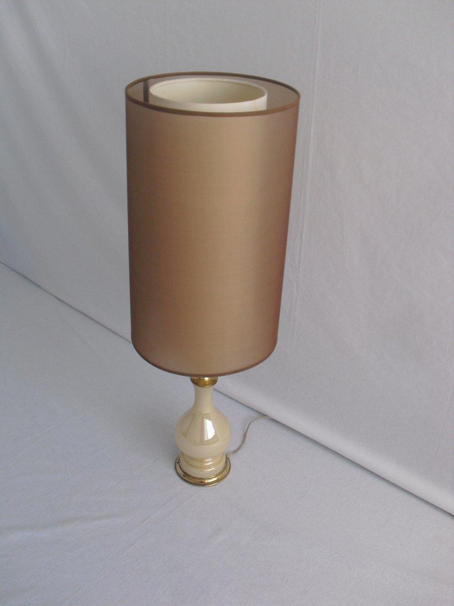 lampe de bureau vintage en verre avec d tails en laiton en vente sur pamono. Black Bedroom Furniture Sets. Home Design Ideas