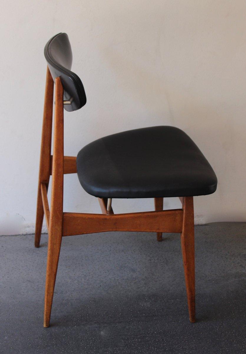 chaise scandinave en noir 1960s - Chaise Scandinave Noir