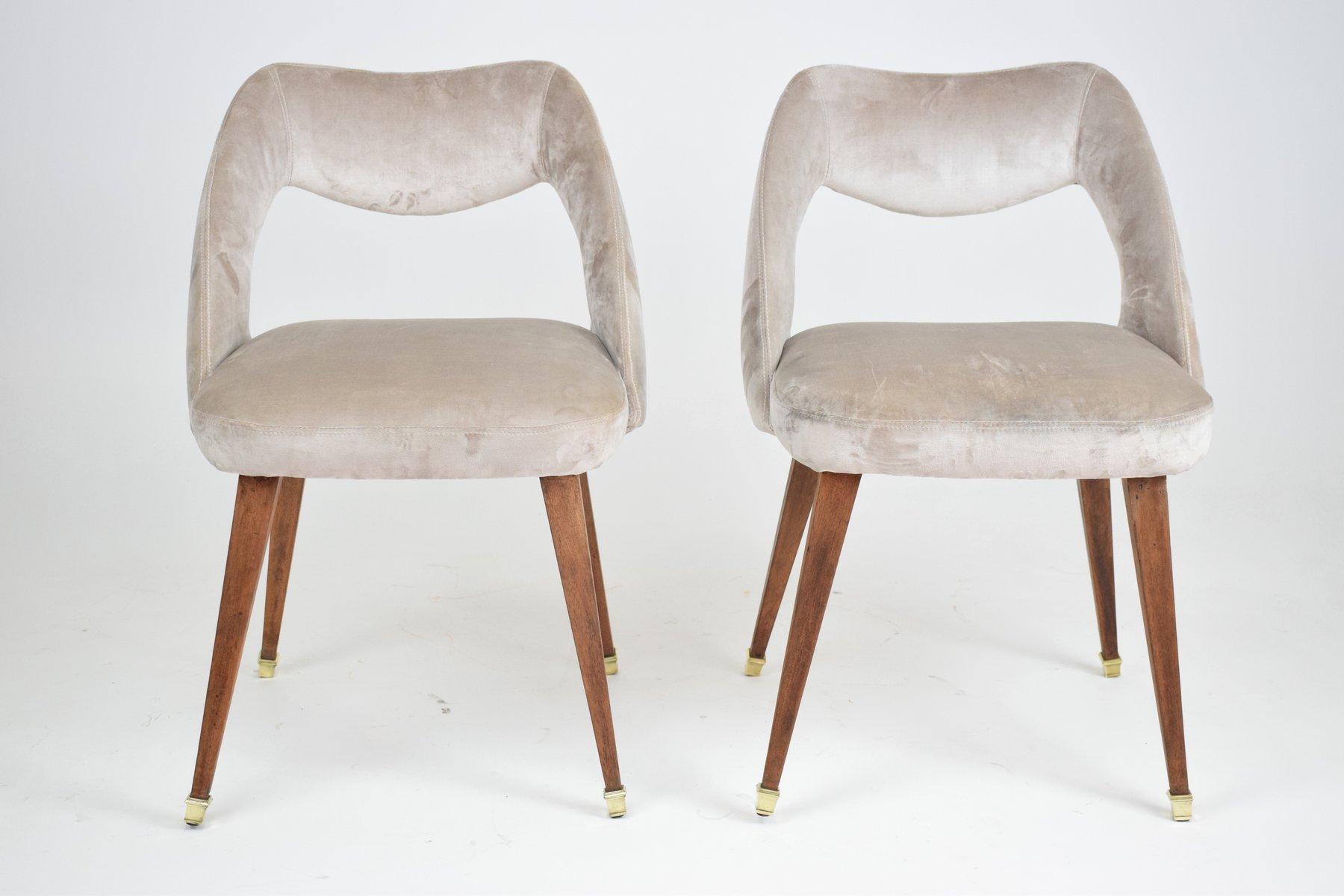 Sedia in velluto anni 39 70 in vendita su pamono for Sedia design anni 70