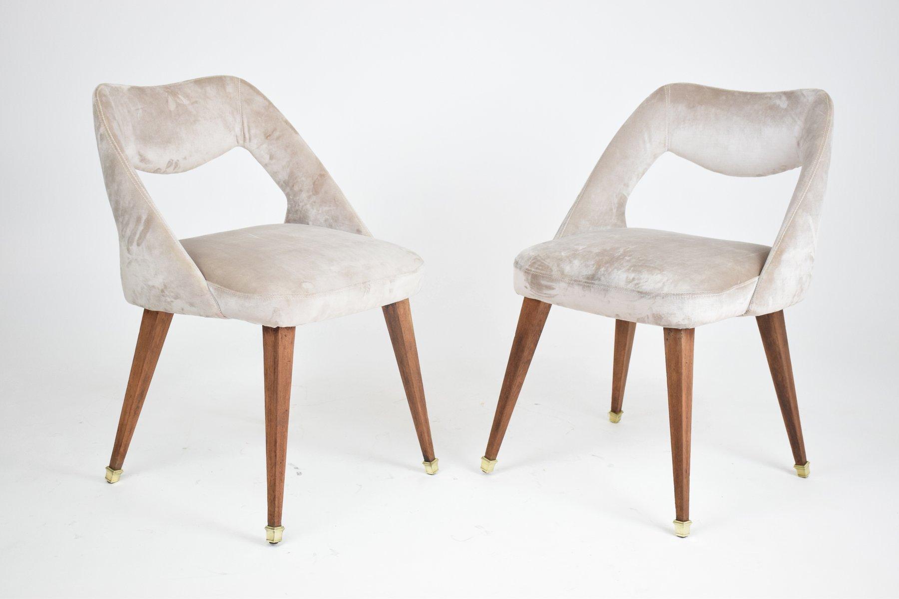 Sedia in velluto anni 39 70 in vendita su pamono for Sedie design anni 20