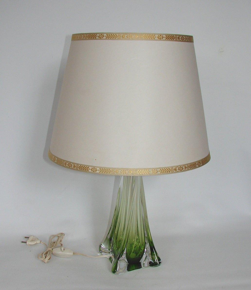Belgische Lampe von Val St Lambert, 1950er