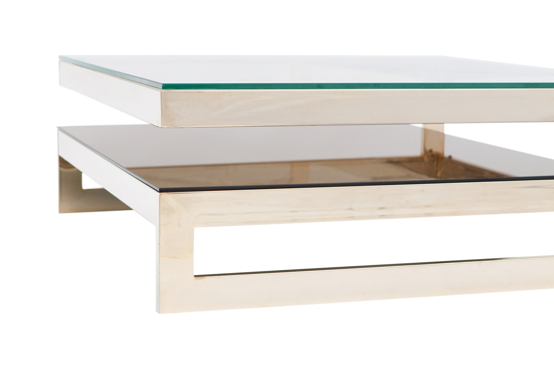 Square Gold Plated G Two Tier Coffee Table From M S For - Two level coffee table