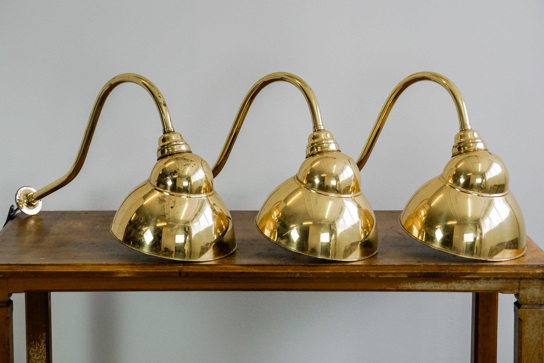 Englische Vintage Messing Spotlight Wandlampe, 1920er