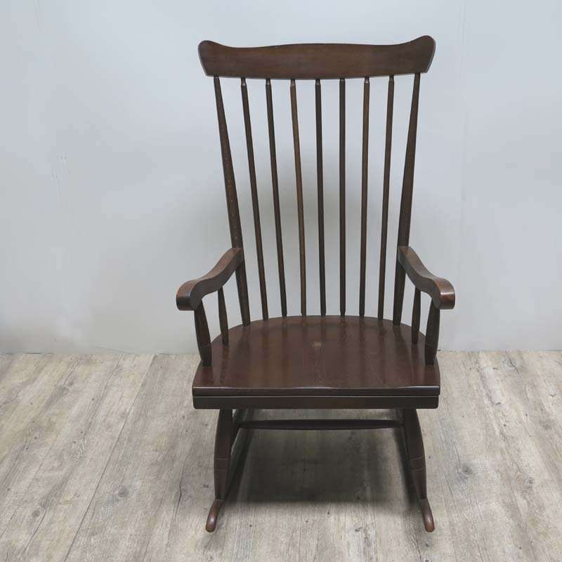 mid century scandinavian wooden rocking chair for sale at pamono. Black Bedroom Furniture Sets. Home Design Ideas