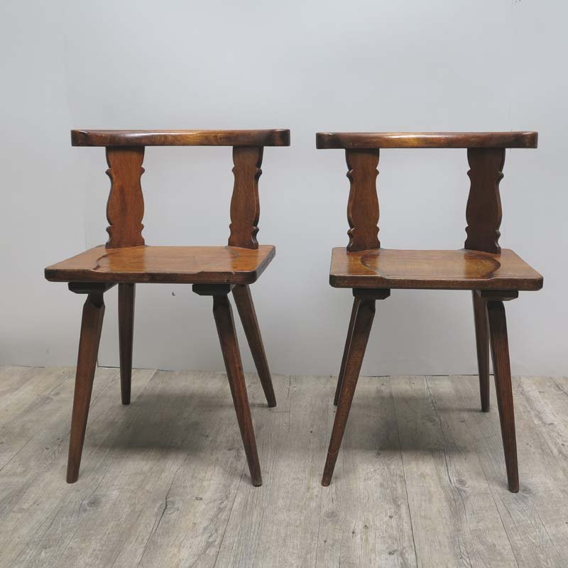 Antique Wooden Chairs, Set of 2 - Antique Wooden Chairs, Set Of 2 For Sale At Pamono