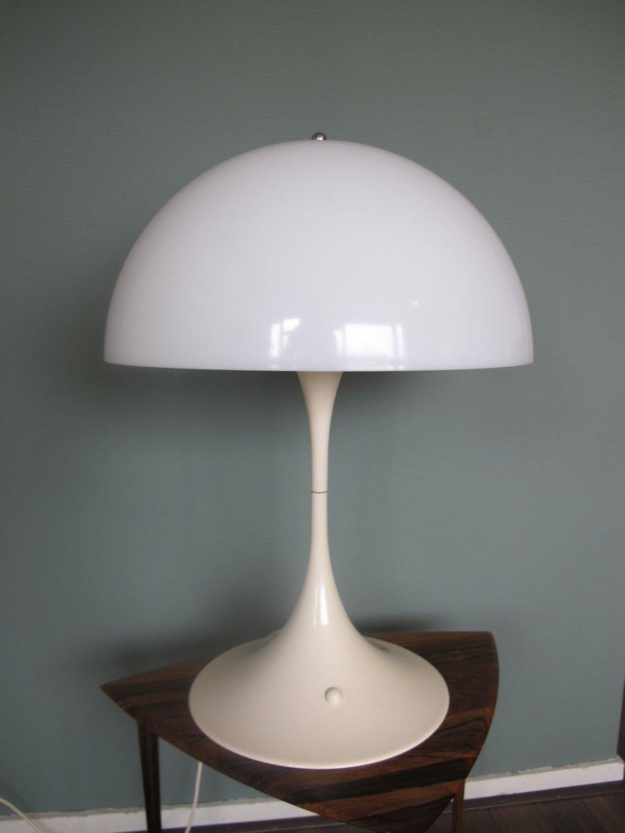 Weiße ABS Panthella Tischlampe von Verner Panton für Louis Poulsen