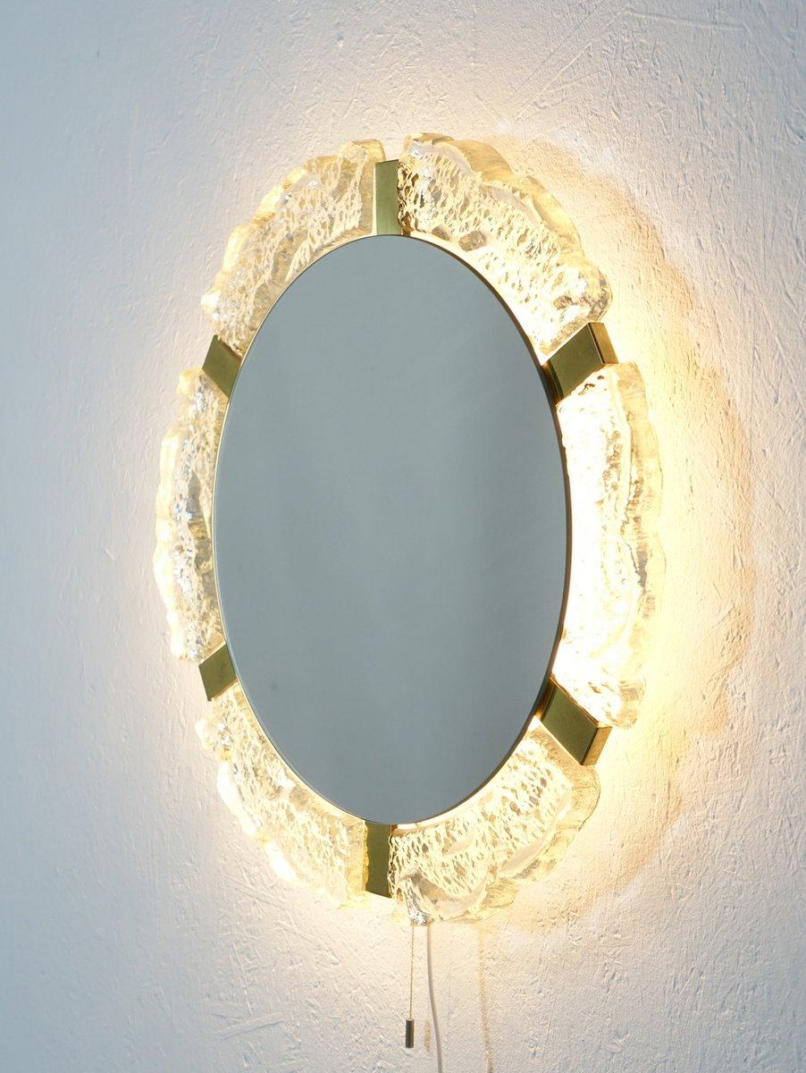 gro er beleuchteter spiegel im hollywood regency stil von hillebrad lighting bei pamono kaufen. Black Bedroom Furniture Sets. Home Design Ideas