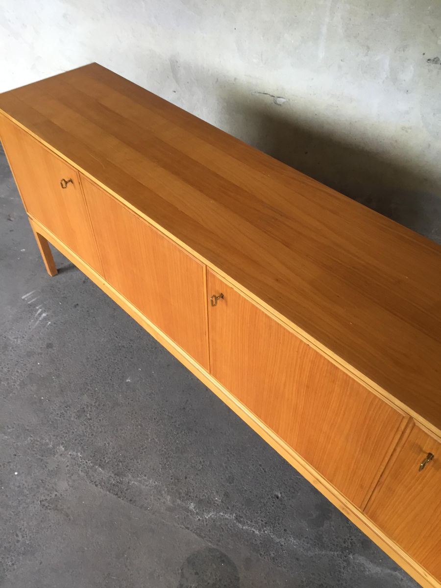 Vintage Massivholz Frisiertisch, 1960er