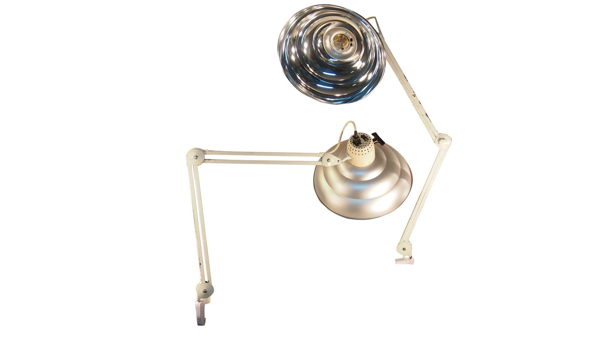 Verstellbare Industrielle Vintage Schreibtischlampen aus Chrom, 2er Se...