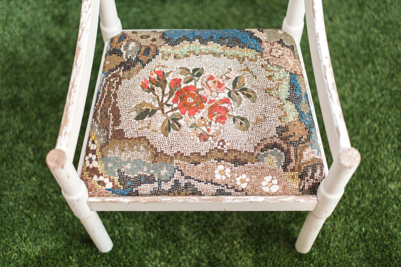 Weißer Stuhl Mit Mosaik Polsterung Von Yukiko Nagai 2013 Bei Pamono