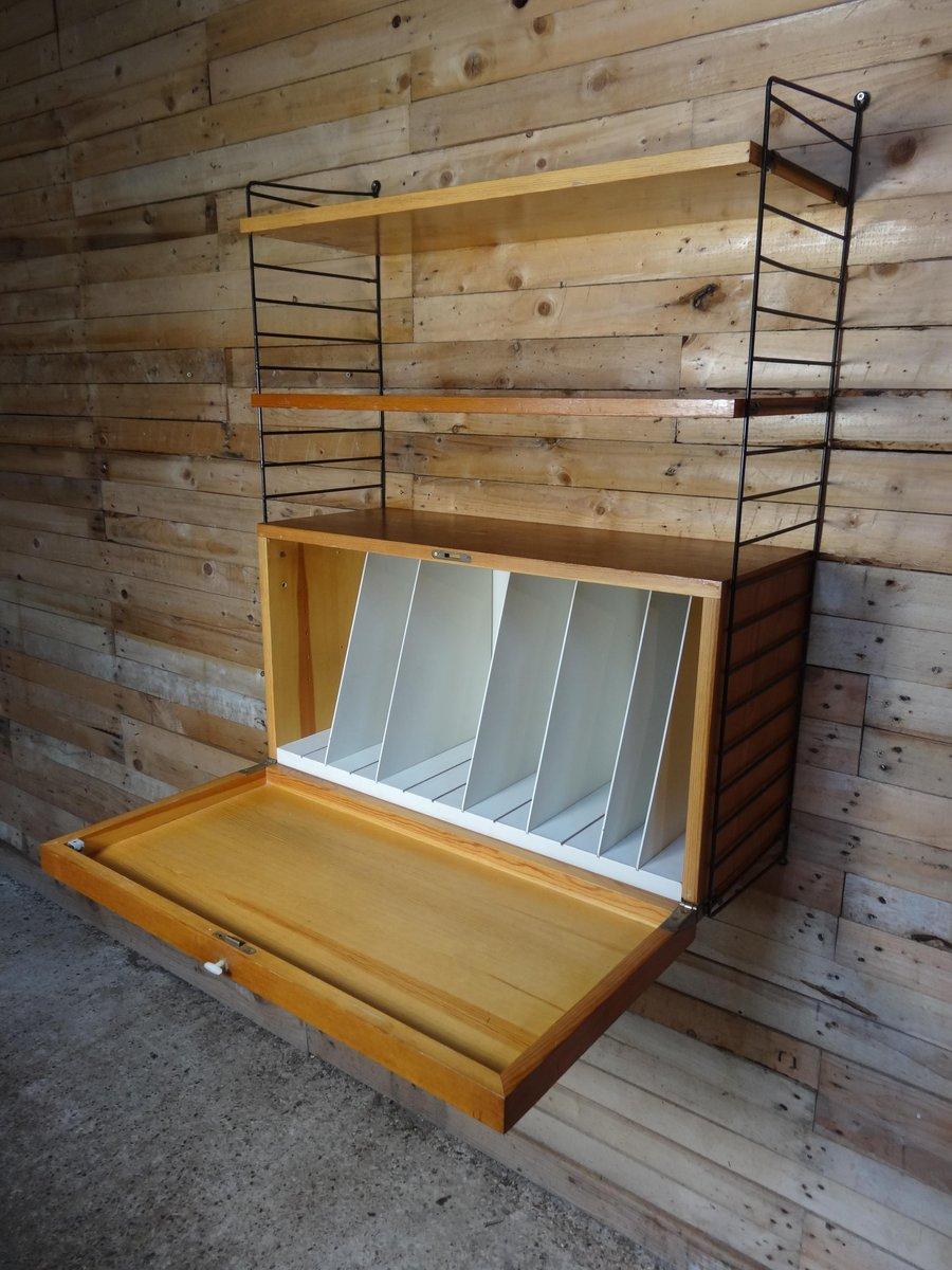 Unit di mensole da parete con porta vinili di nisse strinning per string anni 39 50 in vendita - Parete con mensole ...