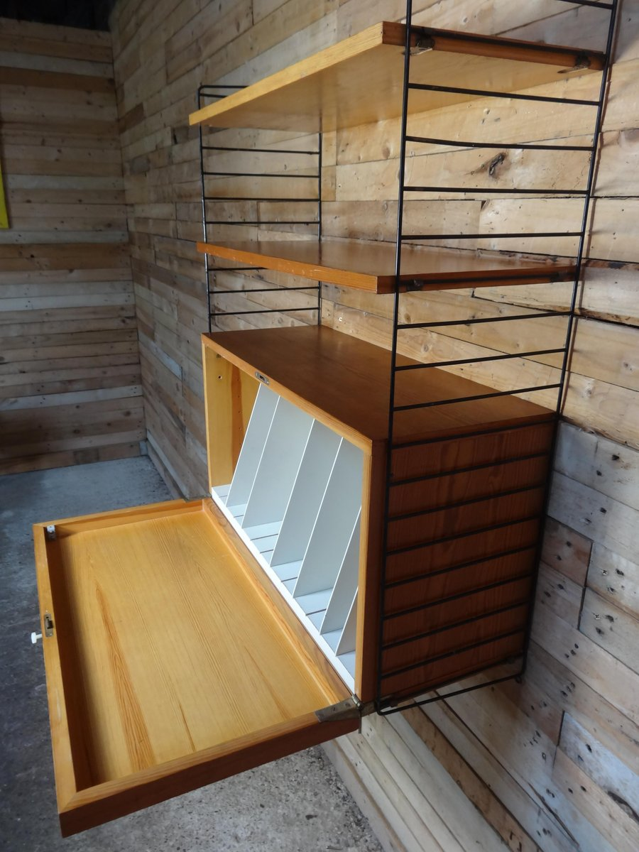Wall Unit With Record Cabinet Amp Two Shelves By Nisse