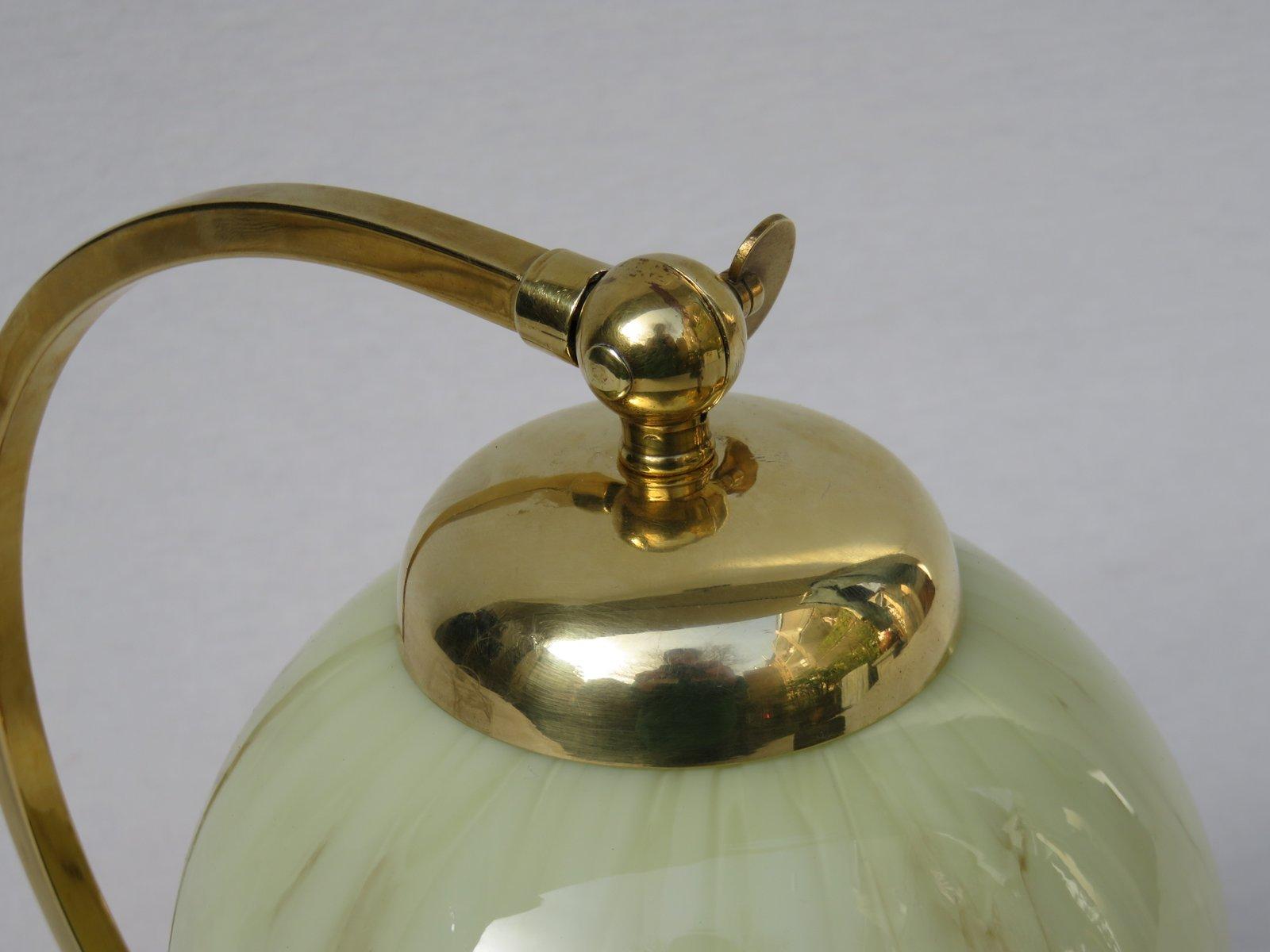 lampe de chevet art d co en laiton verre flamb en vente sur pamono. Black Bedroom Furniture Sets. Home Design Ideas