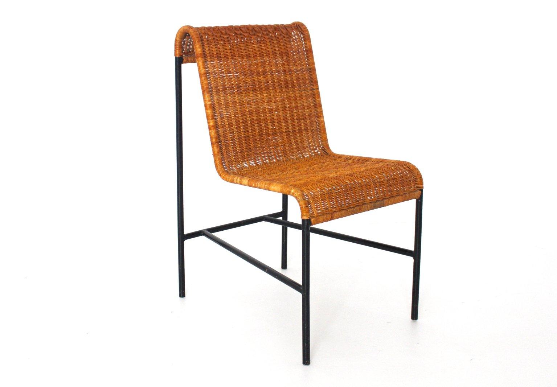 Mid century modern rattan stuhl von harold cohen davis pratt 1953 bei pamono kaufen - Mid century stuhl ...
