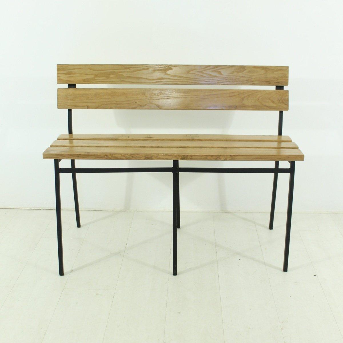 banc en ch ne 1960s en vente sur pamono. Black Bedroom Furniture Sets. Home Design Ideas