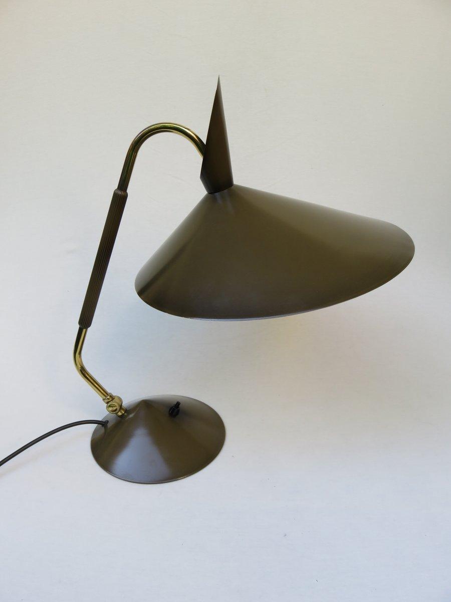 Lackierte Schreibtischlampe aus Messing von Hala, 1960er