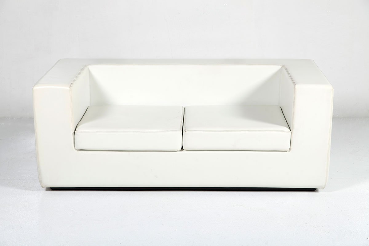 Throw Away White Two Seater Sofa By Willie Landels For Zanotta 1965