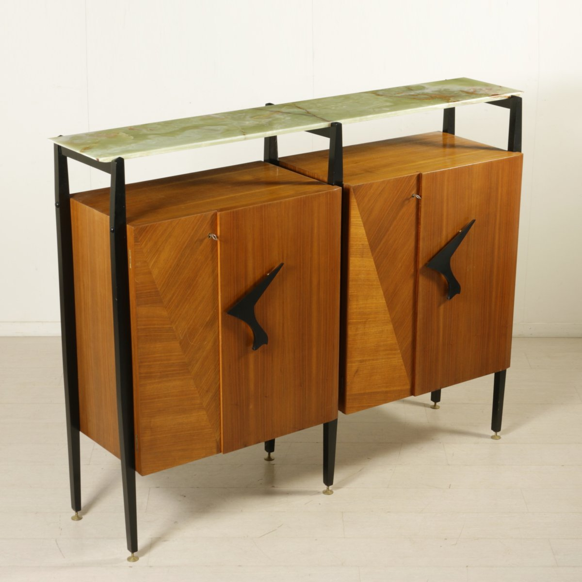 Living Room Cabinet In Maple And Mahogany Veneer 1950s For Sale At