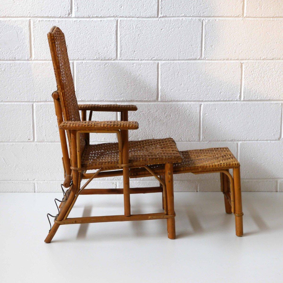 chaise pour enfant en rotin 1960s en vente sur pamono. Black Bedroom Furniture Sets. Home Design Ideas