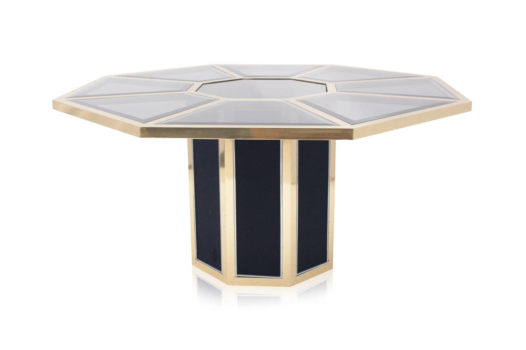 table de salle manger octogonale en laiton de roche. Black Bedroom Furniture Sets. Home Design Ideas
