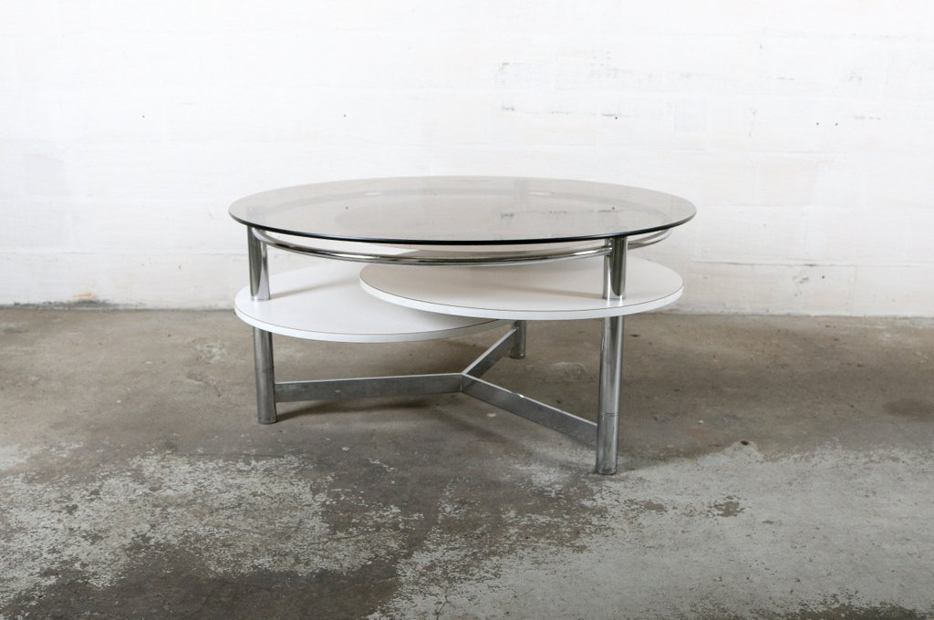 Vintage Coffee Table With Rotatable Tops For Sale At Pamono