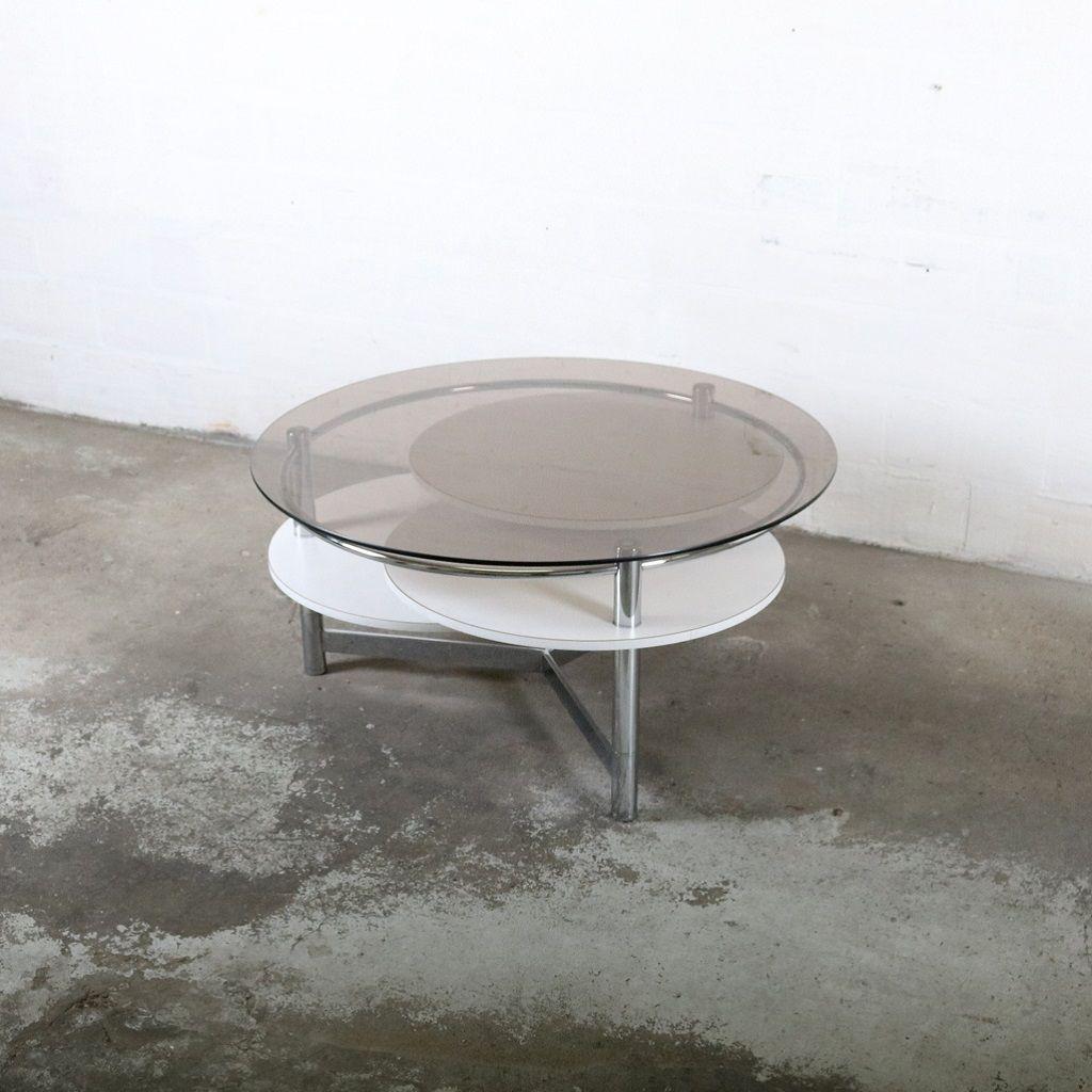 Vintage Couchtisch mit Ausziehbaren Tischplatten