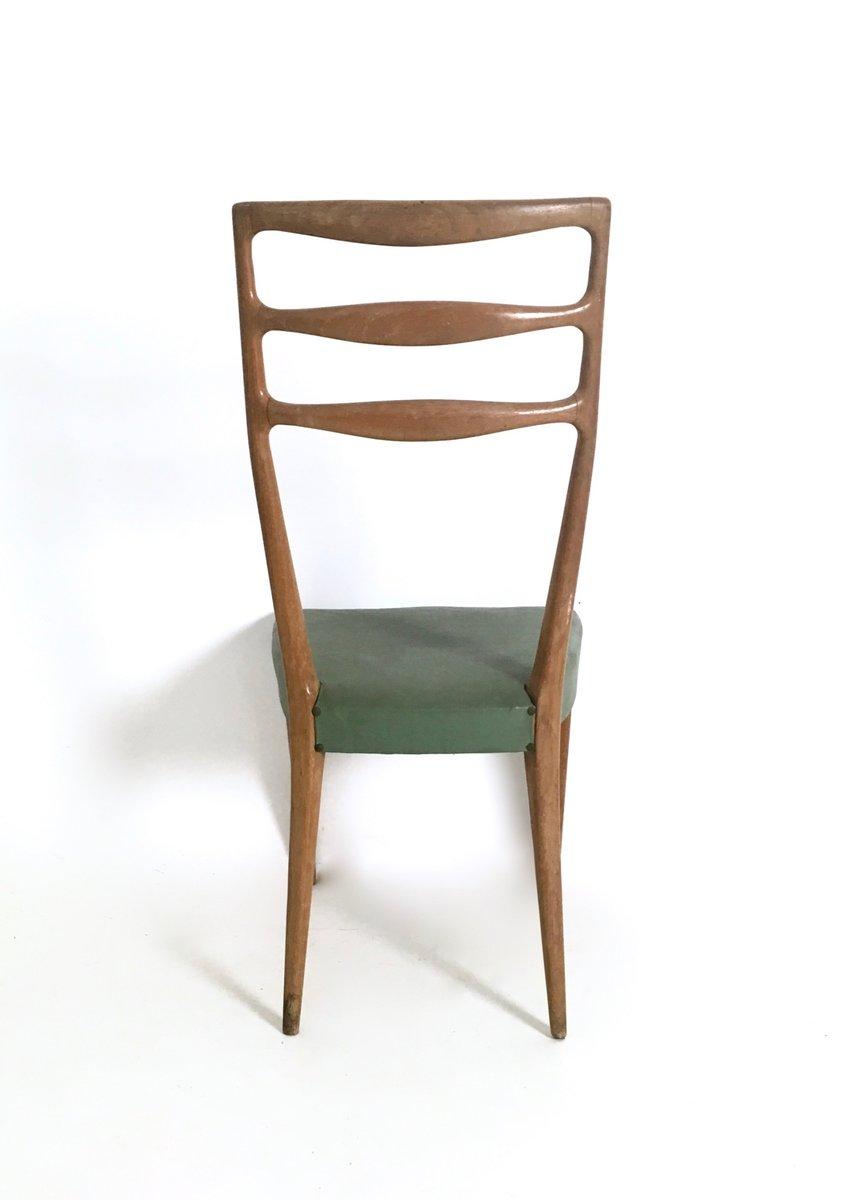 italienische nussholz und skai st hle von cant 1950er 6er set bei pamono kaufen. Black Bedroom Furniture Sets. Home Design Ideas