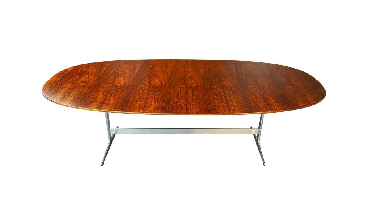 d614 super eliptischer tisch aus palisander auf shaker gestell von hein jacobsen mathsson f r. Black Bedroom Furniture Sets. Home Design Ideas