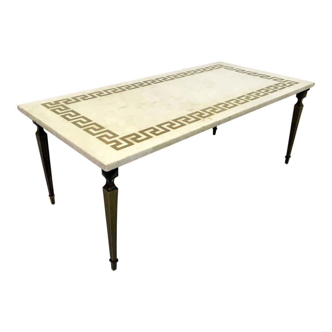 Marble Coffee Table For Sale Singapore: White Marble & Brass Coffee Table, 1950s For Sale At Pamono