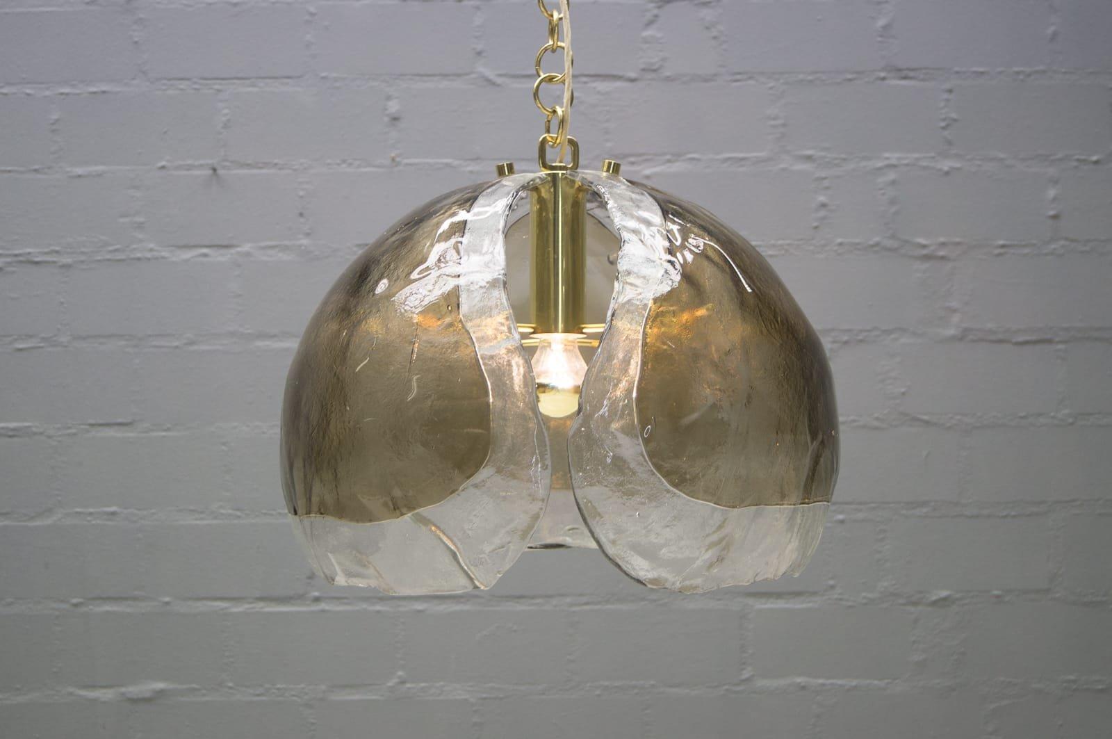 Mid century lamps in mazzega glass from kaiser leuchten 1960s set