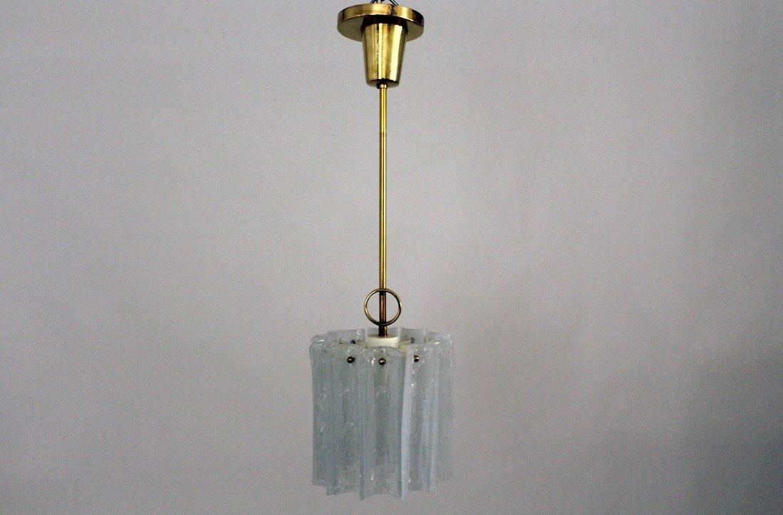 Glas Hängelampe von Kalmar, 1960er