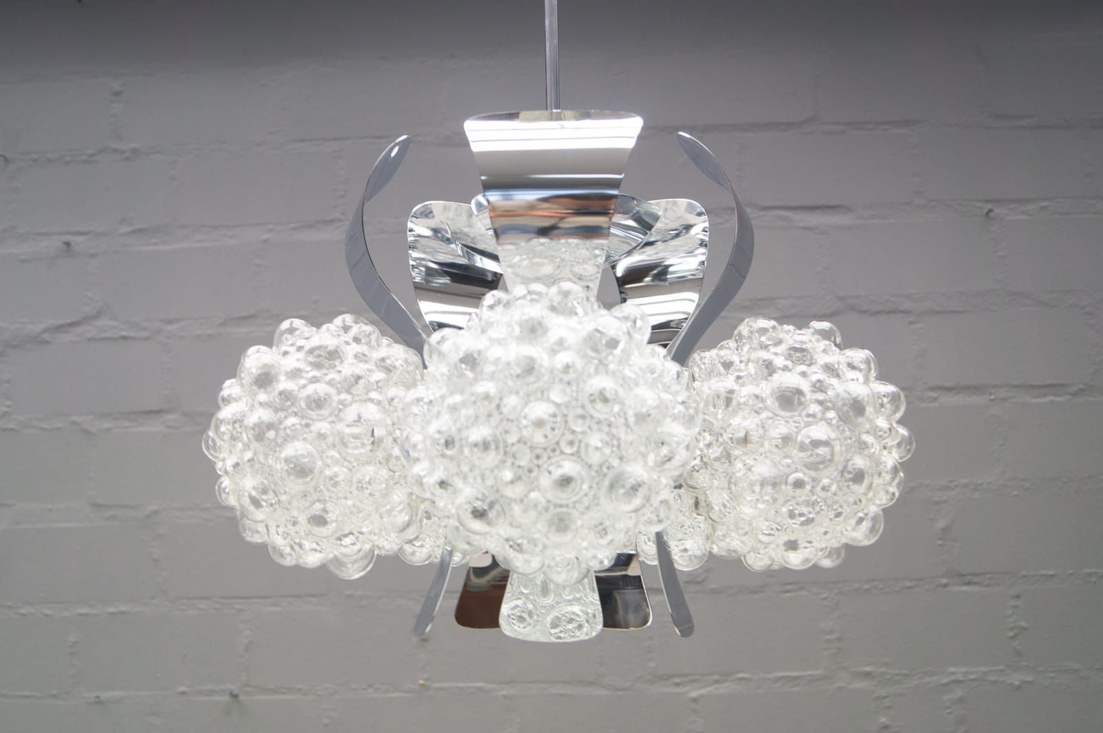 Chrome bubble glass ceiling light by helena tynell for limburg chrome bubble glass ceiling light by helena tynell for limburg 1960s aloadofball Choice Image