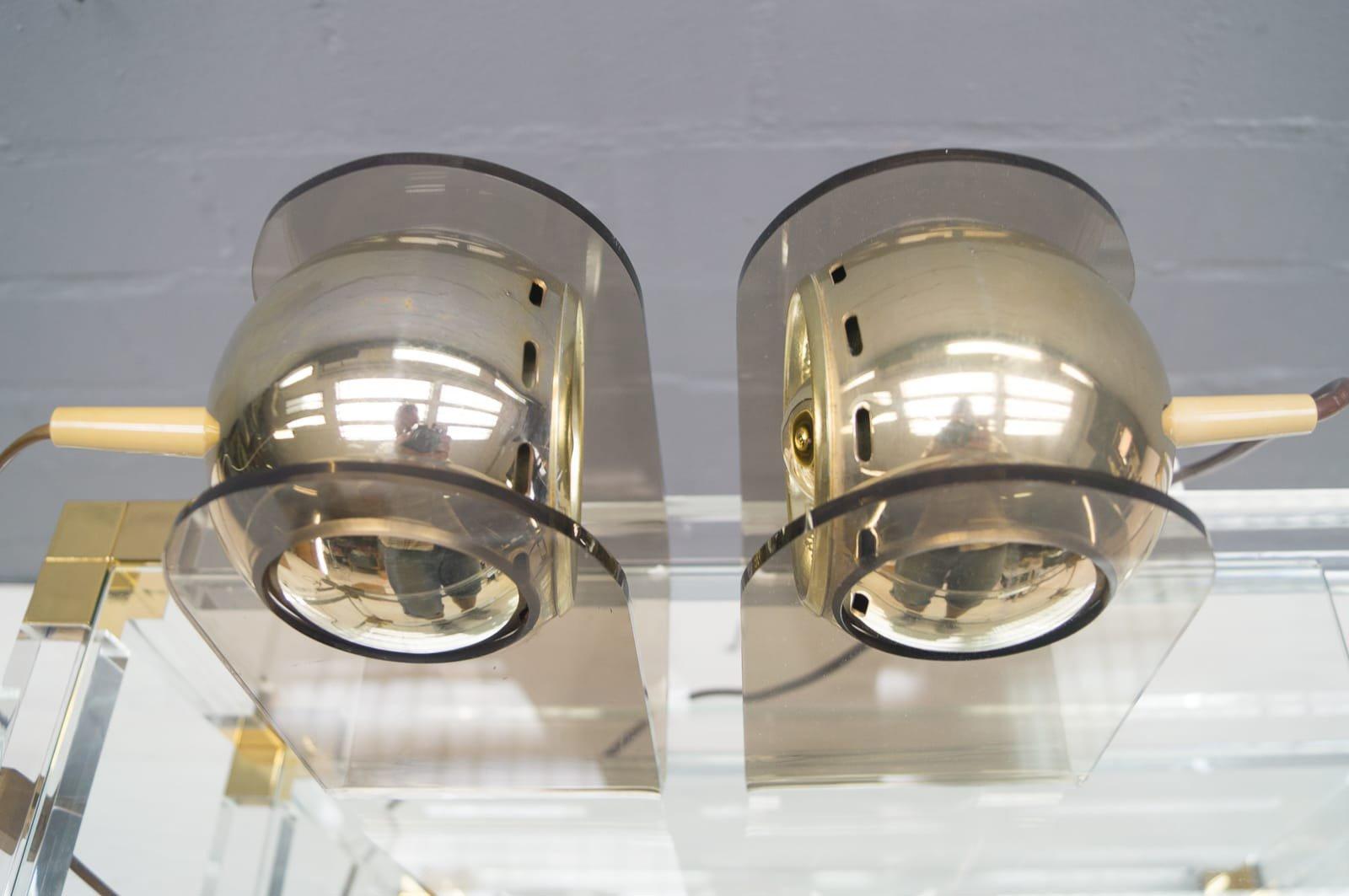 Lampade da tavolo vintage in plexiglas di gino sarfatti - Lampade da tavolo in plexiglass ...
