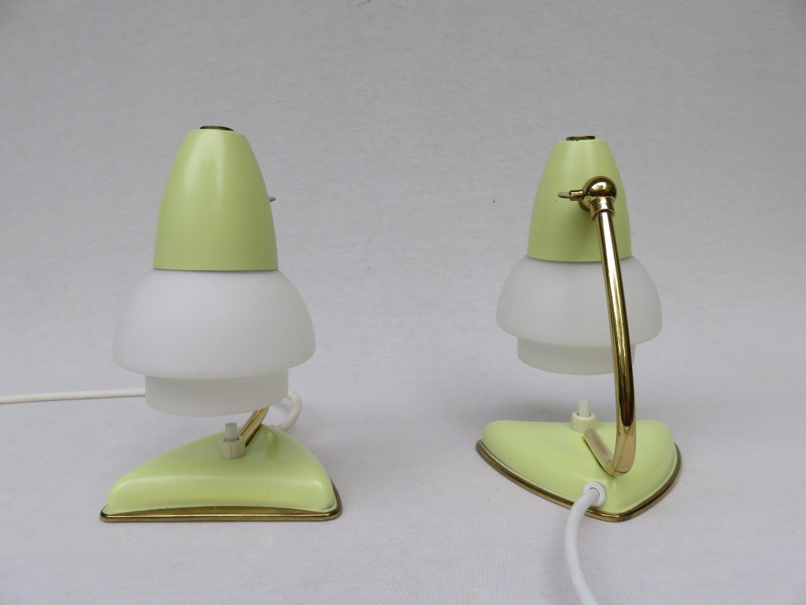 Lampade da comodino italia anni 39 50 set di 2 in vendita su pamono - Lampade da tavolo anni 50 ...
