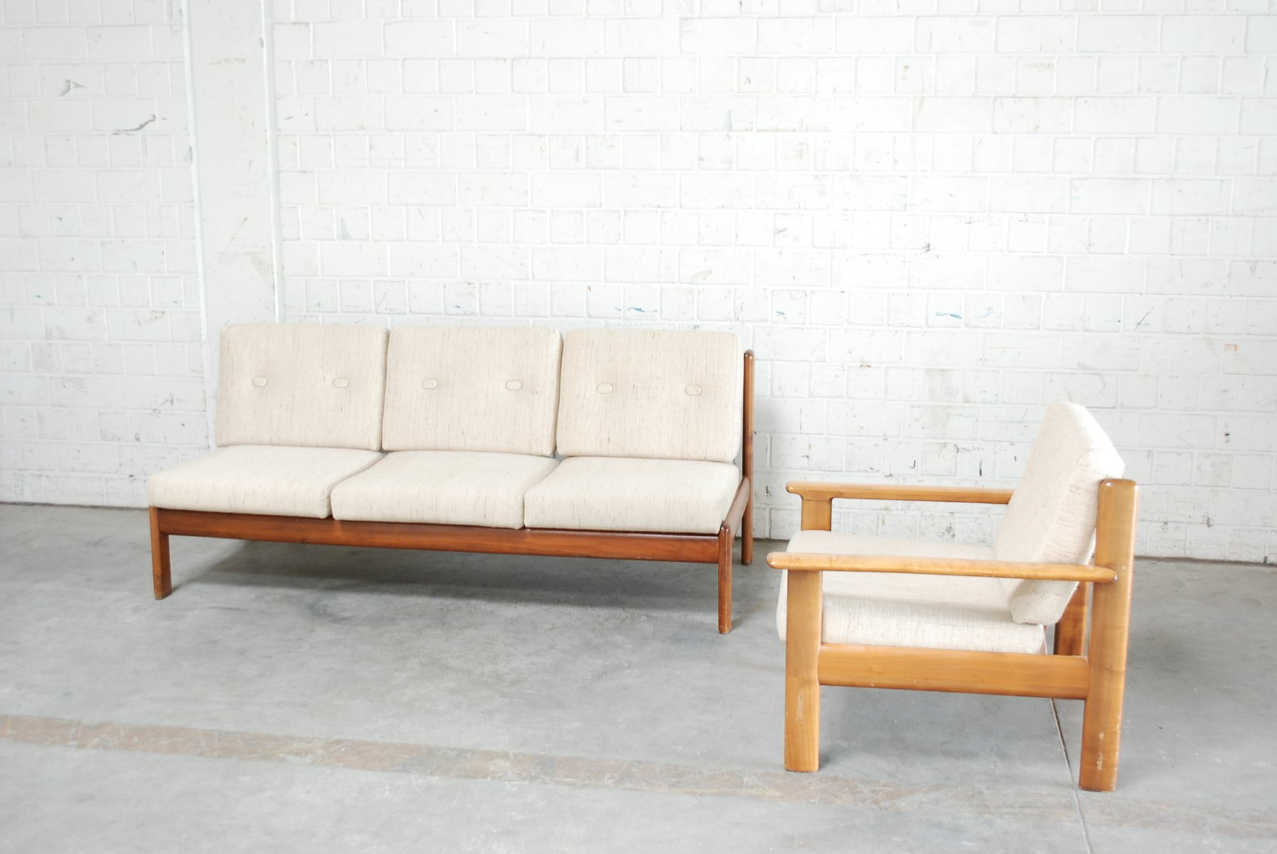 Bezaubernd Couchgarnitur Mit Sessel Sammlung Von Danisches Vintage Kirschholz Sofa Von Knoll Bei