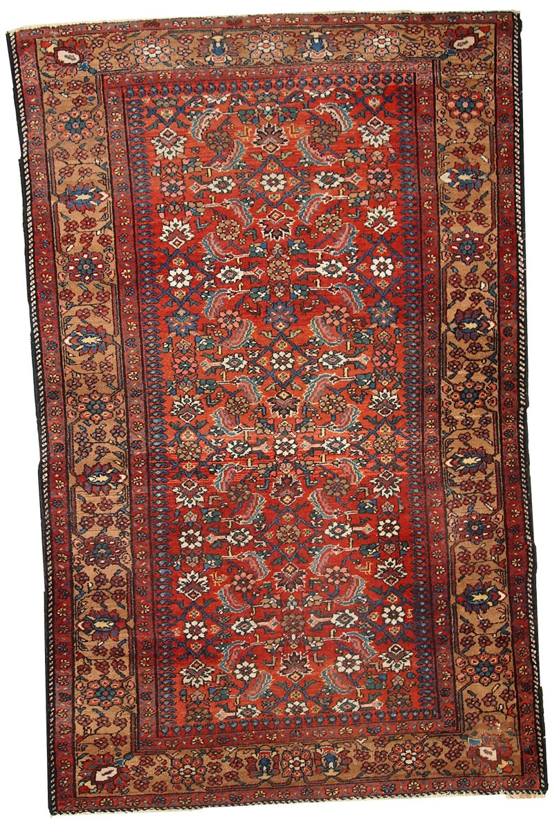 tapis hamadan vintage fait main iran 1920s en vente sur pamono. Black Bedroom Furniture Sets. Home Design Ideas