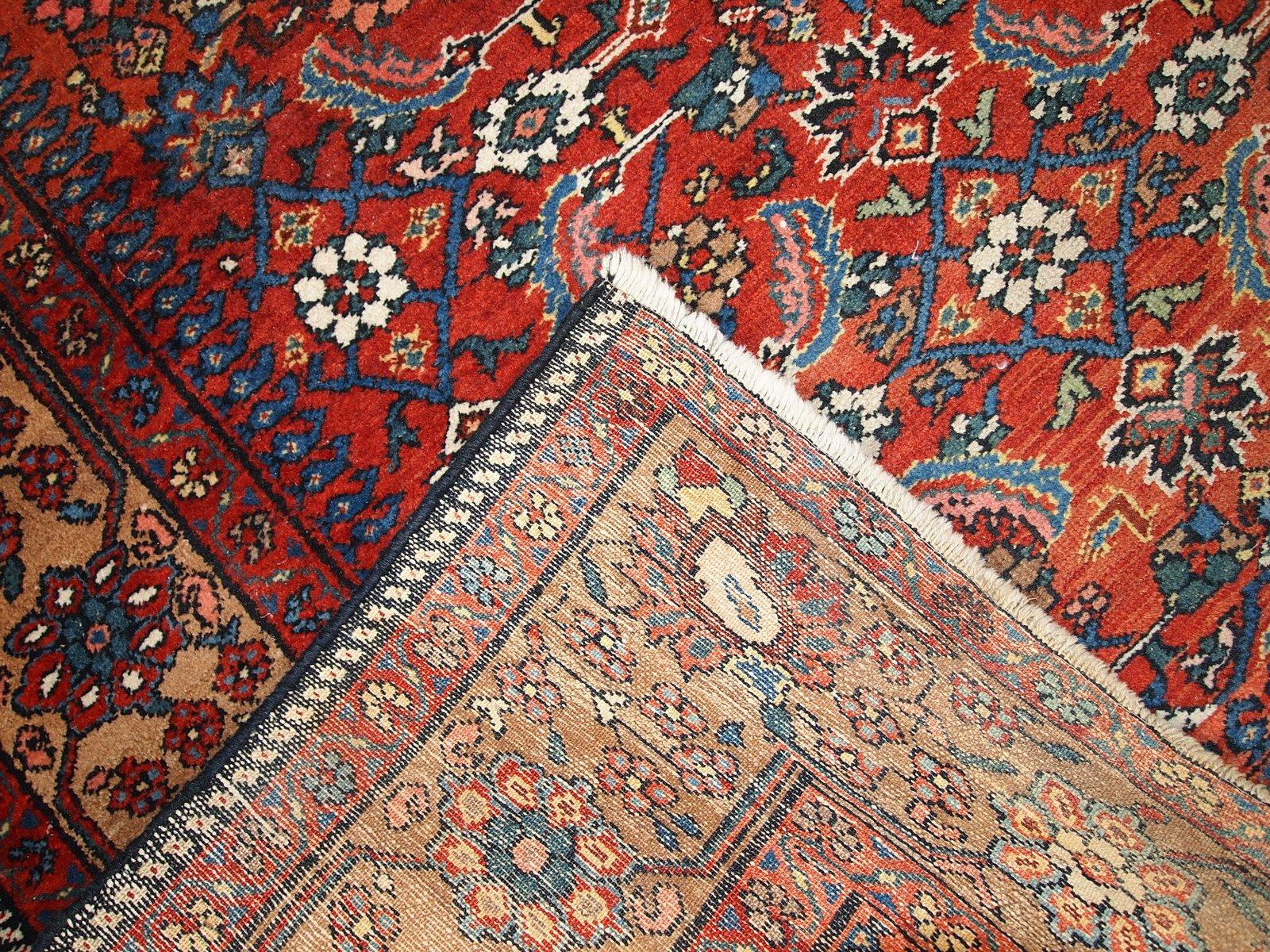 tapis hamadan vintage fait main iran 1920s en vente sur pamono. Black Bedroom Furniture Sets. Home Design Ideas