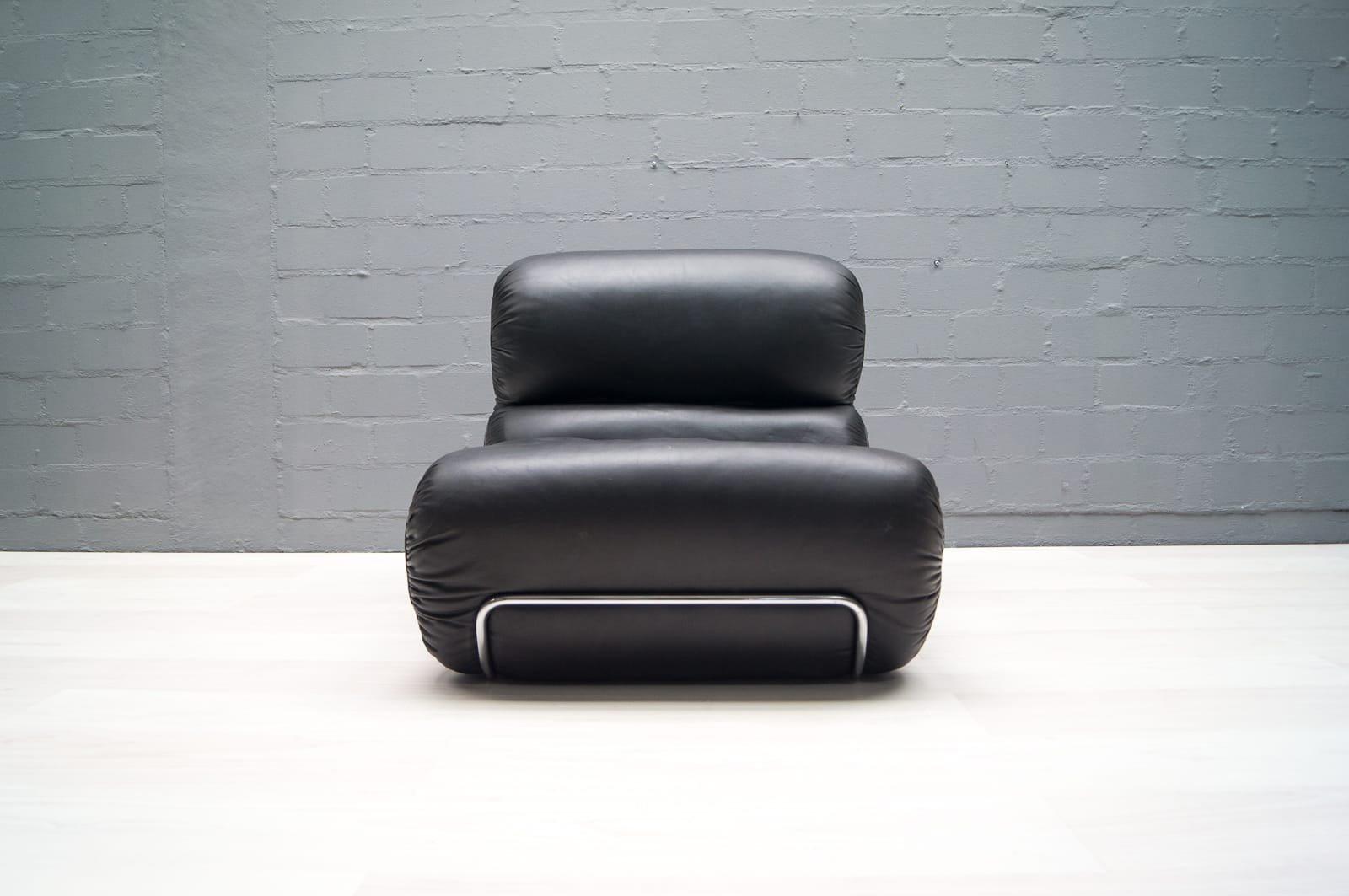 italienische orsola ledersessel von gastone rinaldi f r rima 1970er 2er set bei pamono kaufen. Black Bedroom Furniture Sets. Home Design Ideas