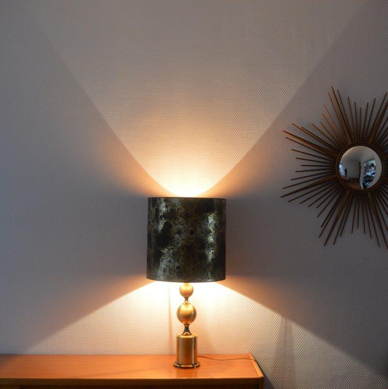 Lampada Da Tavolo In Ottone Francia Anni 39 60 In Vendita