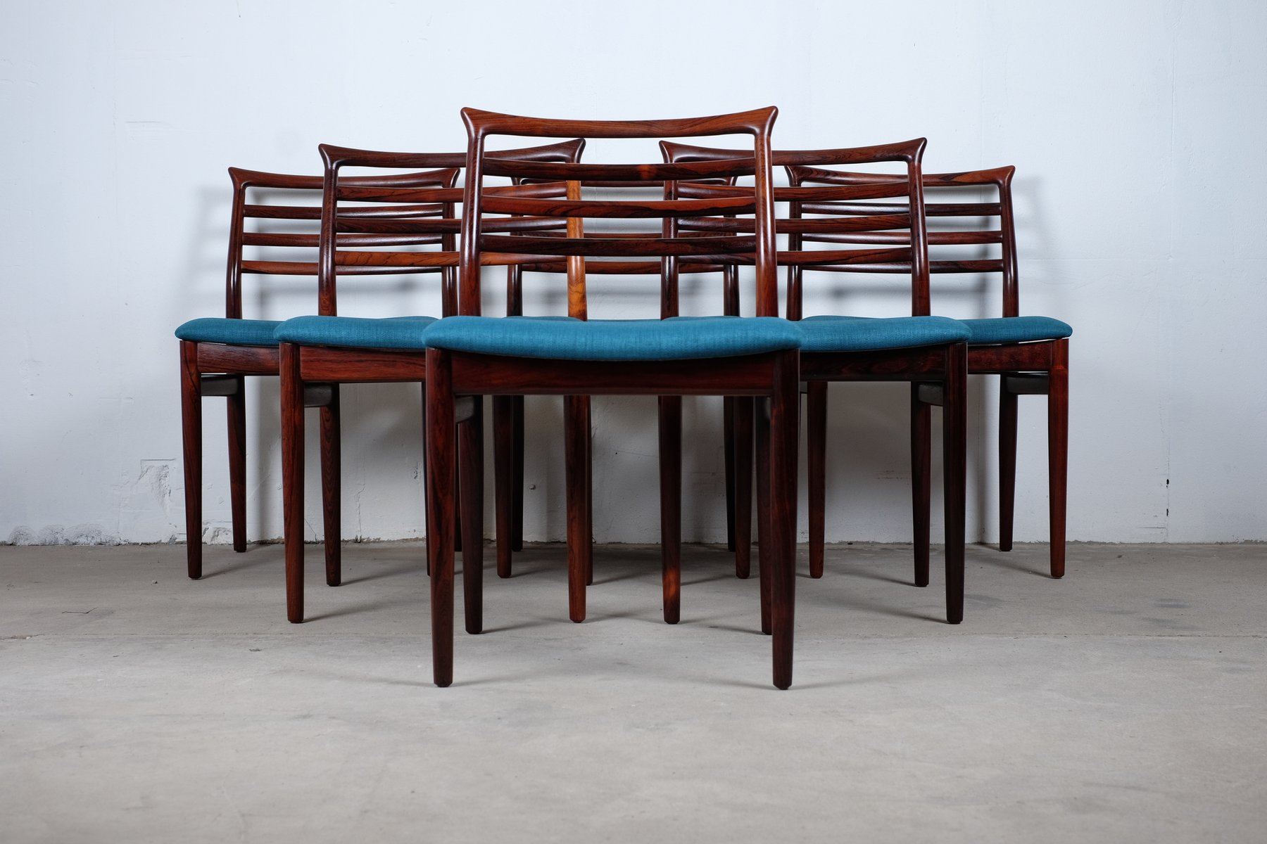 Mid Century Dining Chairs By Erling Torvits For Sorø Stolefabrik, Set Of 6