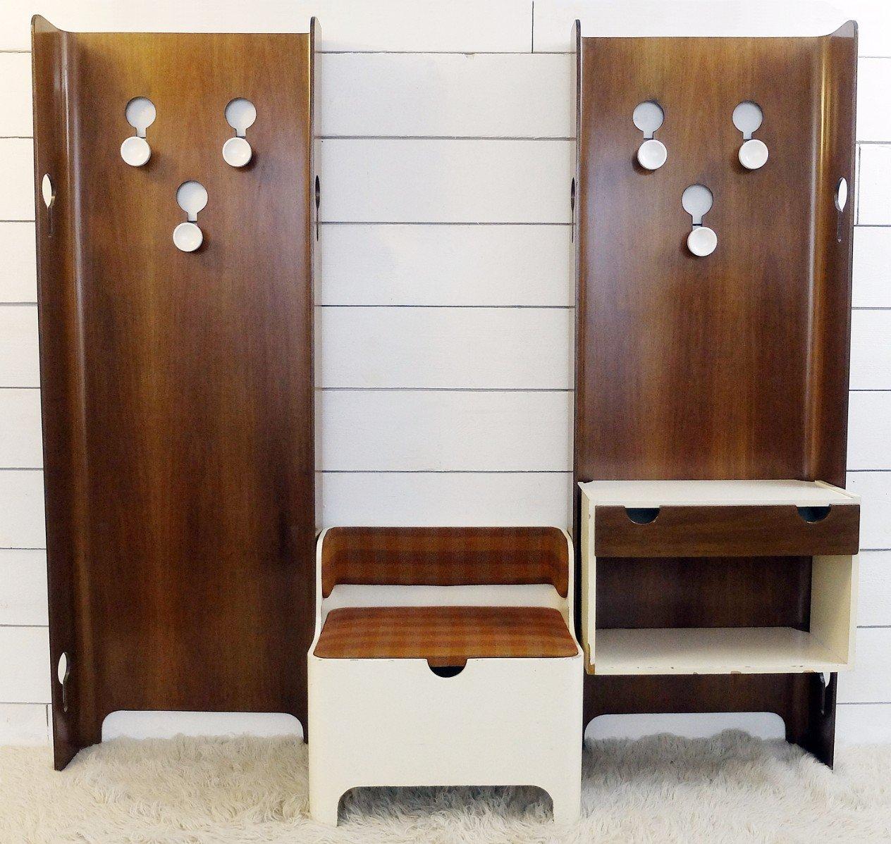 italienische vintage garderobe mit bank und stauraum von fiarm bei pamono kaufen. Black Bedroom Furniture Sets. Home Design Ideas