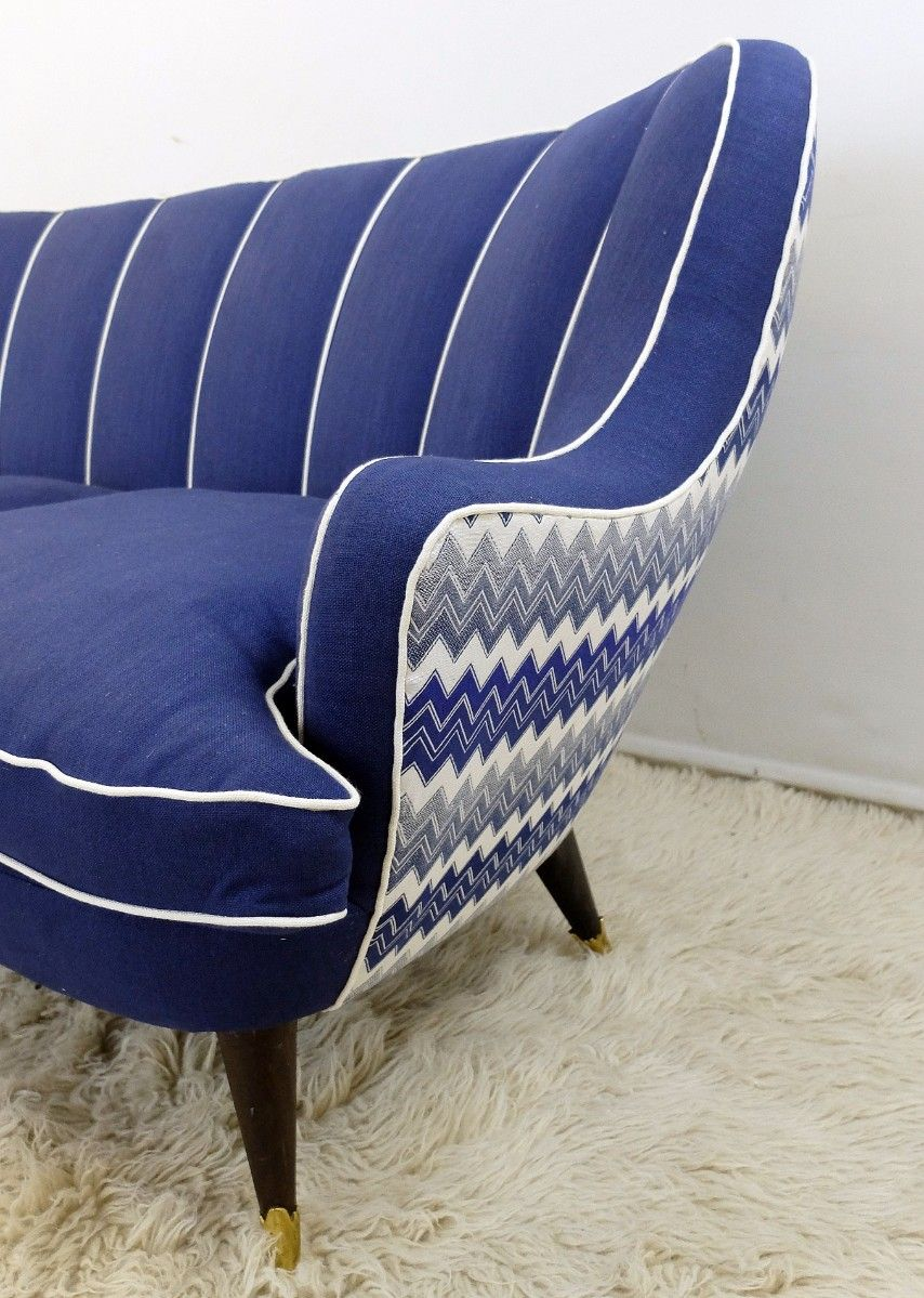 Vintage Italian Royal Blue Sofa 5 3 617 00 Price Per Piece