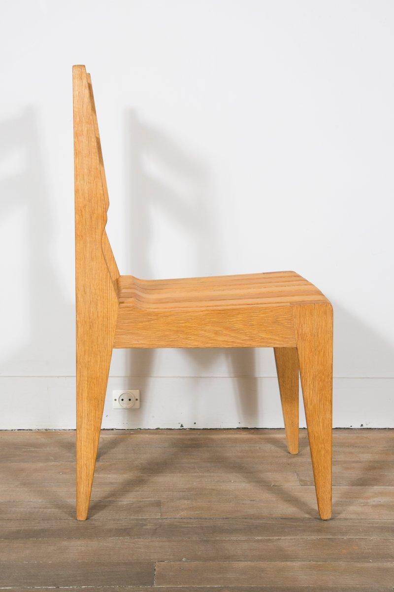 st hle aus heller massiver eiche von guillerme et chambron f r votre maison 1960er 8er set bei. Black Bedroom Furniture Sets. Home Design Ideas