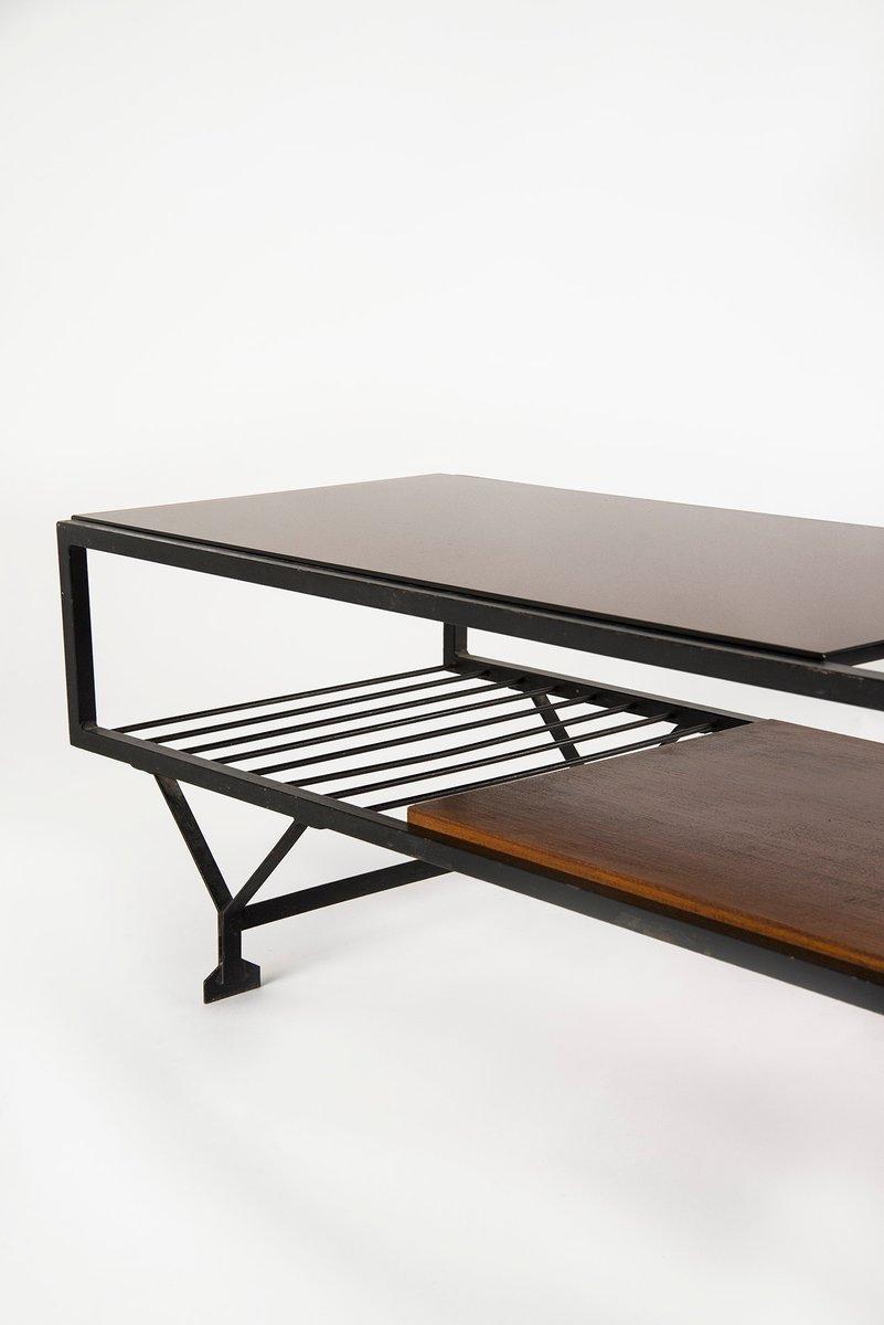 grande table basse avec miroir italie 1950s en vente sur. Black Bedroom Furniture Sets. Home Design Ideas