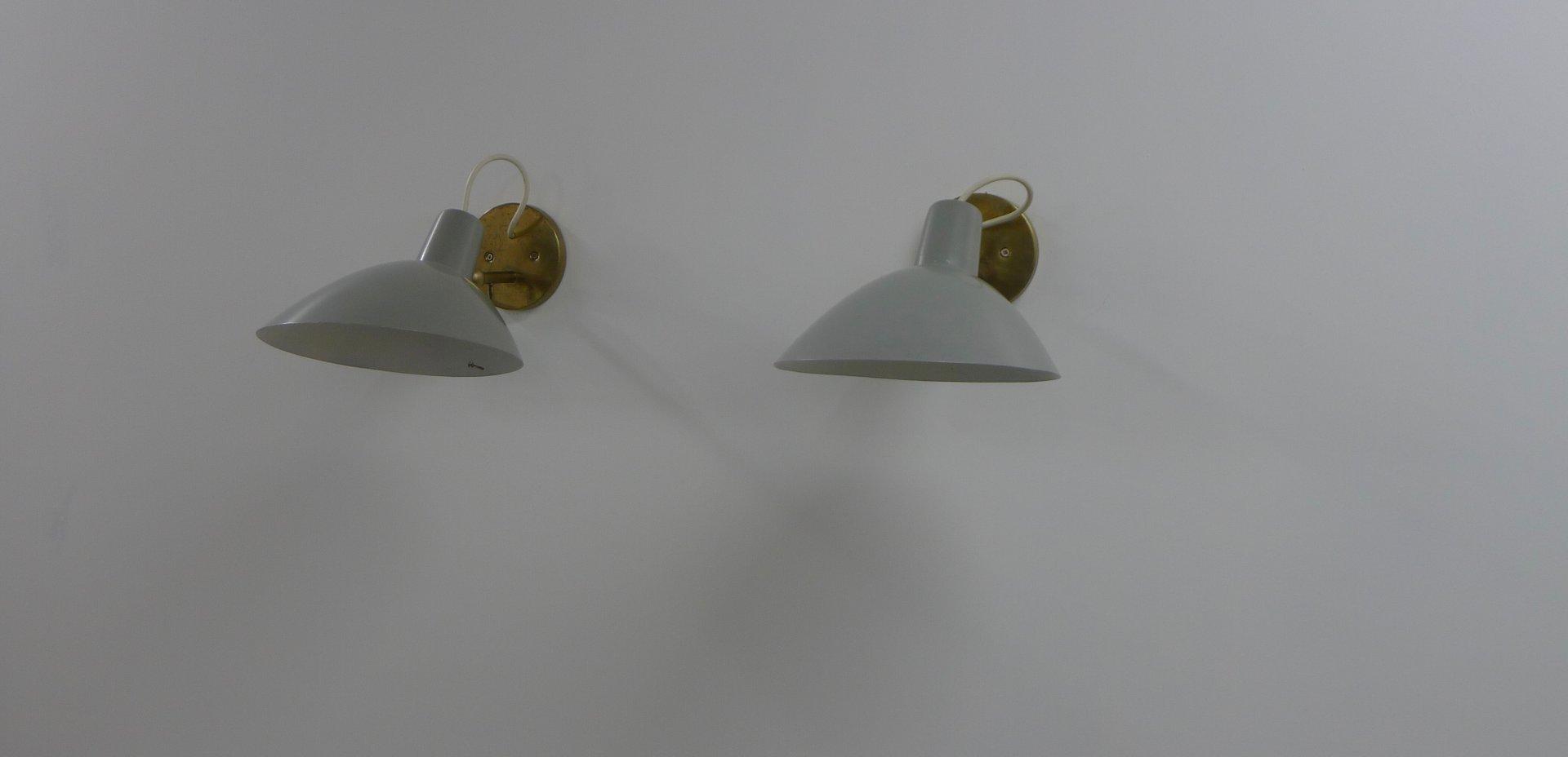 Visor Wandlampen von Vittoriano Vigano für Arteluce, 1950er, 2er Set