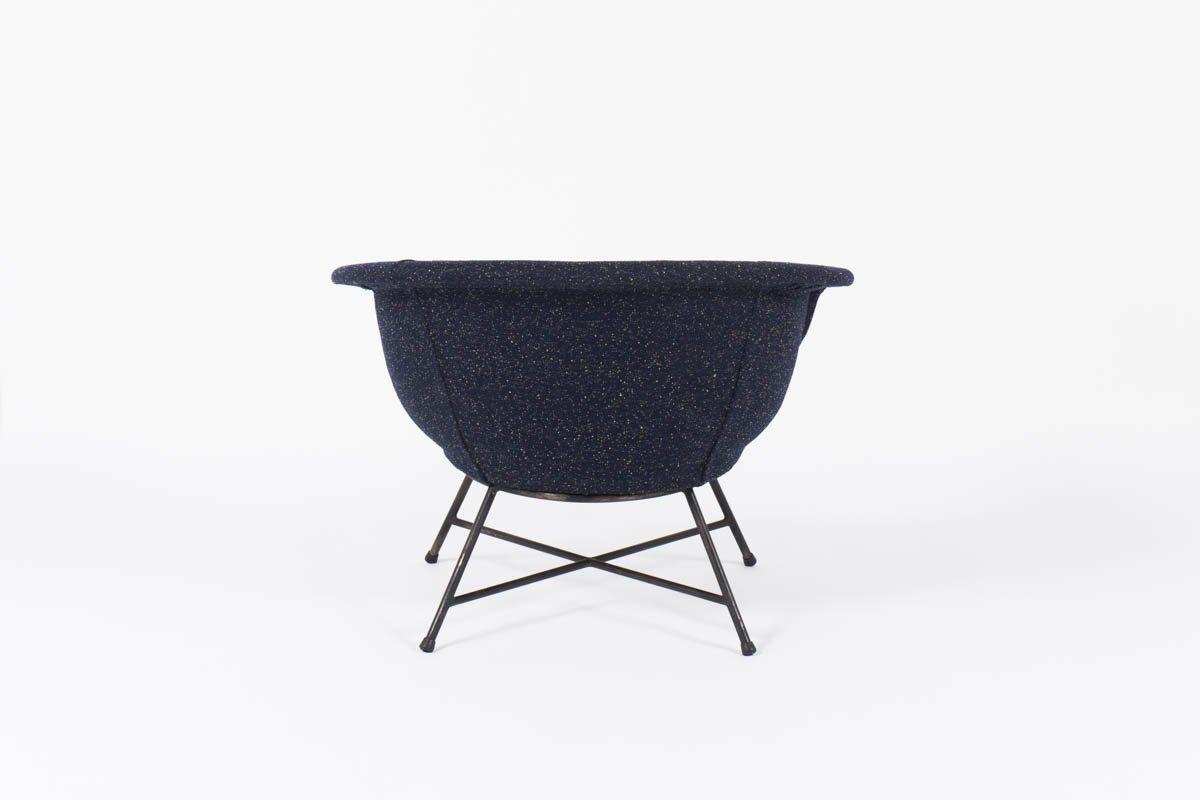 fauteuil mod le 58 par genevieve dangles christian defrance pour burov 1960s en vente sur pamono. Black Bedroom Furniture Sets. Home Design Ideas